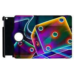 3d Cube Dice Neon Apple iPad 2 Flip 360 Case