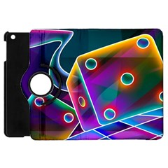 3d Cube Dice Neon Apple iPad Mini Flip 360 Case