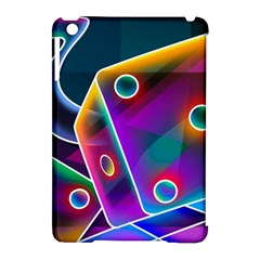 3d Cube Dice Neon Apple iPad Mini Hardshell Case (Compatible with Smart Cover)