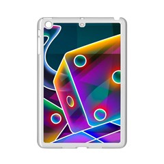 3d Cube Dice Neon iPad Mini 2 Enamel Coated Cases