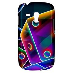 3d Cube Dice Neon Galaxy S3 Mini