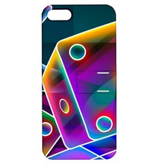3d Cube Dice Neon Apple iPhone 5 Hardshell Case with Stand