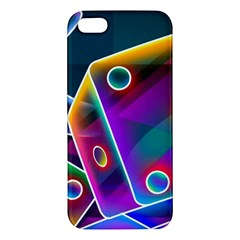 3d Cube Dice Neon Apple iPhone 5 Premium Hardshell Case
