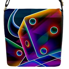 3d Cube Dice Neon Flap Messenger Bag (S)