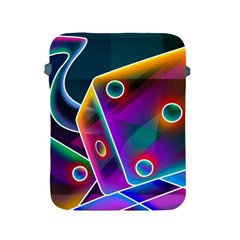 3d Cube Dice Neon Apple iPad 2/3/4 Protective Soft Cases
