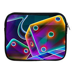 3d Cube Dice Neon Apple iPad 2/3/4 Zipper Cases