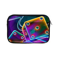 3d Cube Dice Neon Apple iPad Mini Zipper Cases