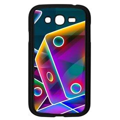3d Cube Dice Neon Samsung Galaxy Grand DUOS I9082 Case (Black)