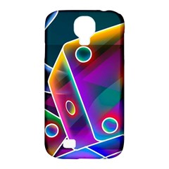 3d Cube Dice Neon Samsung Galaxy S4 Classic Hardshell Case (PC+Silicone)
