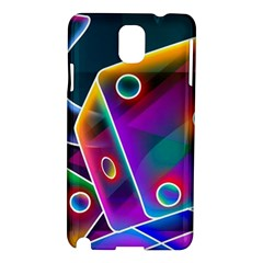 3d Cube Dice Neon Samsung Galaxy Note 3 N9005 Hardshell Case