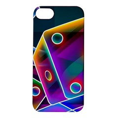 3d Cube Dice Neon Apple iPhone 5S/ SE Hardshell Case