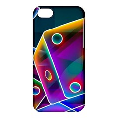 3d Cube Dice Neon Apple iPhone 5C Hardshell Case