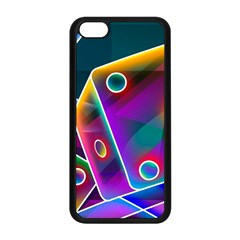3d Cube Dice Neon Apple iPhone 5C Seamless Case (Black)