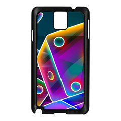3d Cube Dice Neon Samsung Galaxy Note 3 N9005 Case (Black)
