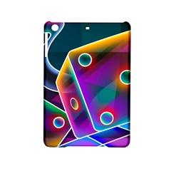 3d Cube Dice Neon iPad Mini 2 Hardshell Cases