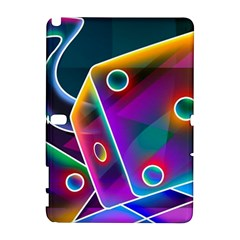 3d Cube Dice Neon Galaxy Note 1