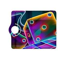 3d Cube Dice Neon Kindle Fire HDX 8.9  Flip 360 Case