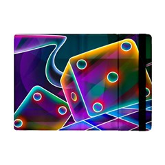 3d Cube Dice Neon iPad Mini 2 Flip Cases