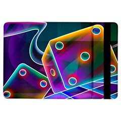 3d Cube Dice Neon iPad Air Flip