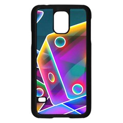 3d Cube Dice Neon Samsung Galaxy S5 Case (Black)