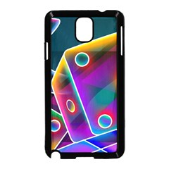 3d Cube Dice Neon Samsung Galaxy Note 3 Neo Hardshell Case (Black)