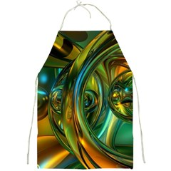 3d Transparent Glass Shapes Mixture Of Dark Yellow Green Glass Mixture Artistic Glassworks Full Print Aprons