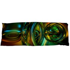3d Transparent Glass Shapes Mixture Of Dark Yellow Green Glass Mixture Artistic Glassworks Body Pillow Case Dakimakura (two Sides)