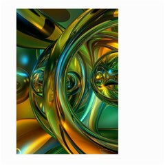 3d Transparent Glass Shapes Mixture Of Dark Yellow Green Glass Mixture Artistic Glassworks Large Garden Flag (two Sides)