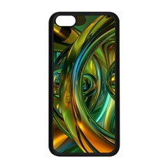 3d Transparent Glass Shapes Mixture Of Dark Yellow Green Glass Mixture Artistic Glassworks Apple Iphone 5c Seamless Case (black)