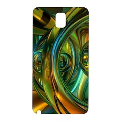 3d Transparent Glass Shapes Mixture Of Dark Yellow Green Glass Mixture Artistic Glassworks Samsung Galaxy Note 3 N9005 Hardshell Back Case