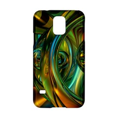 3d Transparent Glass Shapes Mixture Of Dark Yellow Green Glass Mixture Artistic Glassworks Samsung Galaxy S5 Hardshell Case