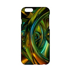 3d Transparent Glass Shapes Mixture Of Dark Yellow Green Glass Mixture Artistic Glassworks Apple Iphone 6/6s Hardshell Case