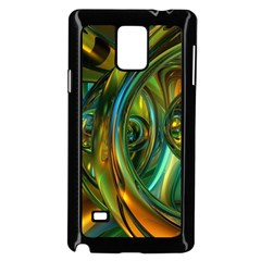 3d Transparent Glass Shapes Mixture Of Dark Yellow Green Glass Mixture Artistic Glassworks Samsung Galaxy Note 4 Case (black)