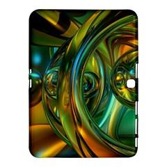 3d Transparent Glass Shapes Mixture Of Dark Yellow Green Glass Mixture Artistic Glassworks Samsung Galaxy Tab 4 (10 1 ) Hardshell Case