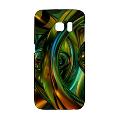 3d Transparent Glass Shapes Mixture Of Dark Yellow Green Glass Mixture Artistic Glassworks Galaxy S6 Edge