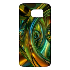 3d Transparent Glass Shapes Mixture Of Dark Yellow Green Glass Mixture Artistic Glassworks Galaxy S6