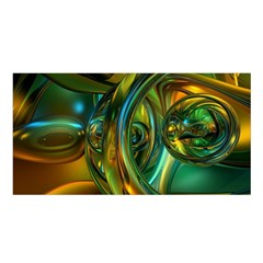 3d Transparent Glass Shapes Mixture Of Dark Yellow Green Glass Mixture Artistic Glassworks Satin Shawl