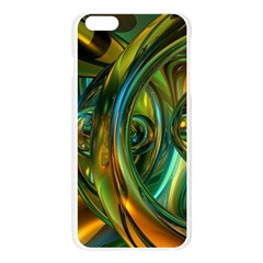 3d Transparent Glass Shapes Mixture Of Dark Yellow Green Glass Mixture Artistic Glassworks Apple Seamless iPhone 6 Plus/6S Plus Case (Transparent)