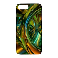 3d Transparent Glass Shapes Mixture Of Dark Yellow Green Glass Mixture Artistic Glassworks Apple iPhone 7 Plus Hardshell Case