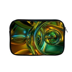 3d Transparent Glass Shapes Mixture Of Dark Yellow Green Glass Mixture Artistic Glassworks Apple MacBook Pro 13  Zipper Case