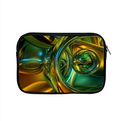 3d Transparent Glass Shapes Mixture Of Dark Yellow Green Glass Mixture Artistic Glassworks Apple MacBook Pro 15  Zipper Case