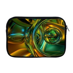 3d Transparent Glass Shapes Mixture Of Dark Yellow Green Glass Mixture Artistic Glassworks Apple MacBook Pro 17  Zipper Case