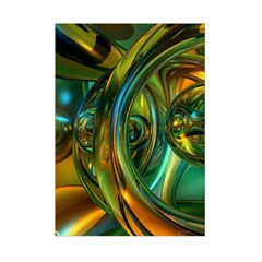 3d Transparent Glass Shapes Mixture Of Dark Yellow Green Glass Mixture Artistic Glassworks Small Tapestry