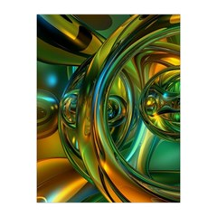 3d Transparent Glass Shapes Mixture Of Dark Yellow Green Glass Mixture Artistic Glassworks Medium Tapestry