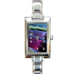 Abstract Satin Rectangle Italian Charm Watch