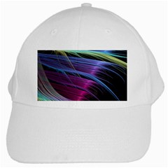 Abstract Satin White Cap