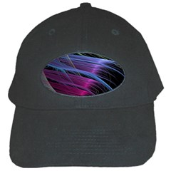 Abstract Satin Black Cap