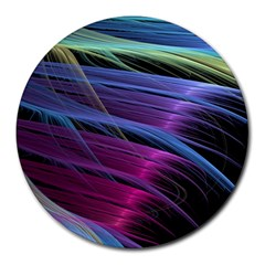 Abstract Satin Round Mousepads