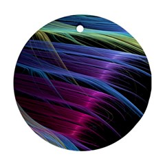 Abstract Satin Ornament (Round)