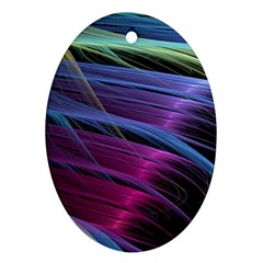 Abstract Satin Ornament (Oval)